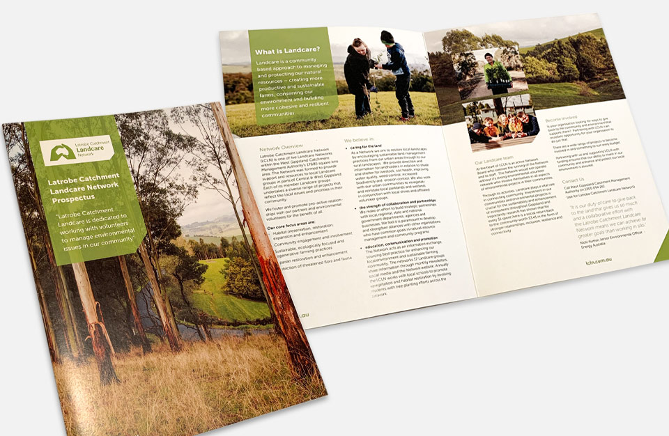 Photo of capability statement Latrobe Landcare