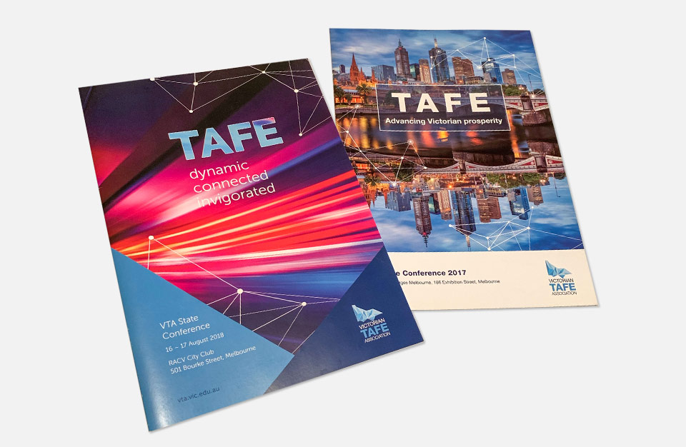 photo of brochure for Tafe conferences