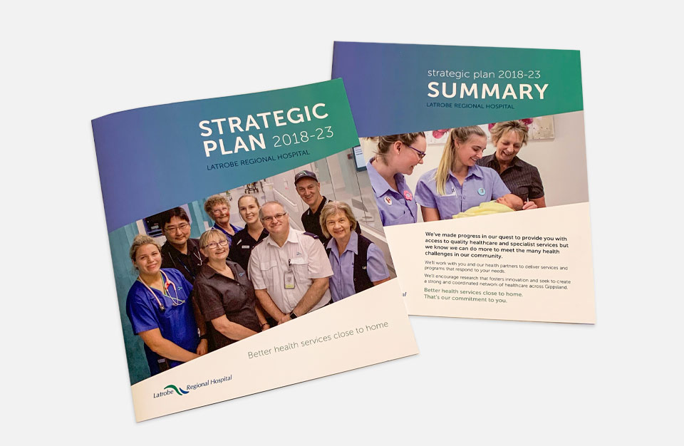 Photo of strategic plan documents