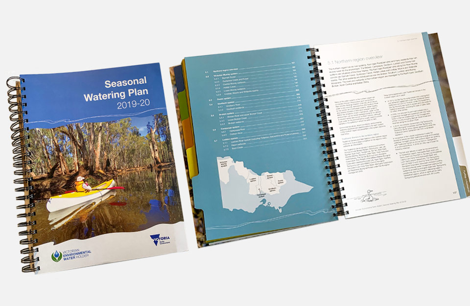 Photo of the Seasonal Watering Plan publication